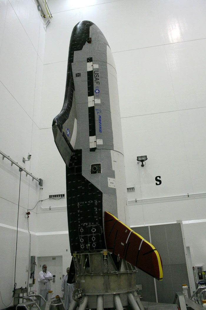 The OTV undergoes launch preparations in this Boeing file photo.