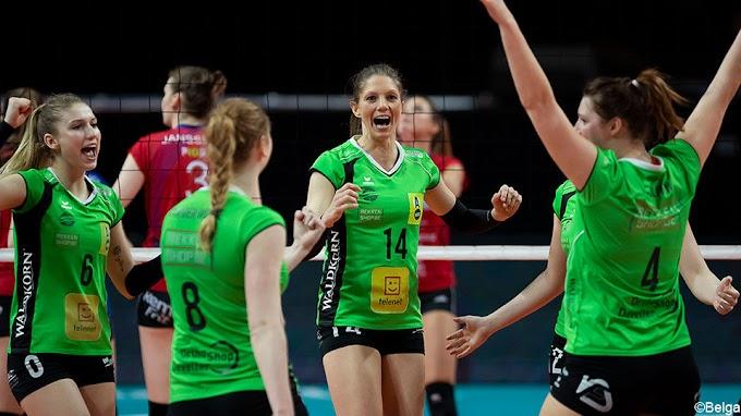 Oostende wint het burenduel met Sliedrecht in de Challenge Cup volleybal
