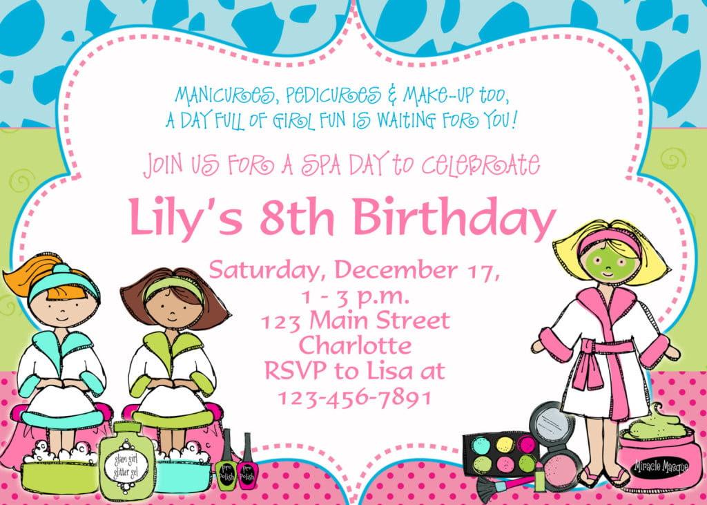 8th Birthday Party Invitation Template 1024x731