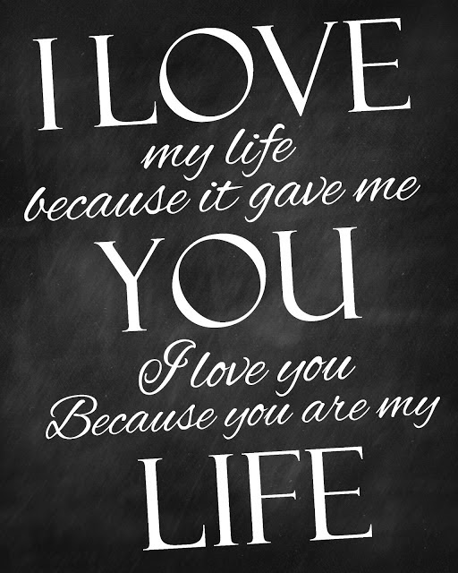 I Love My Life Because It Gave Me You Quote Picture