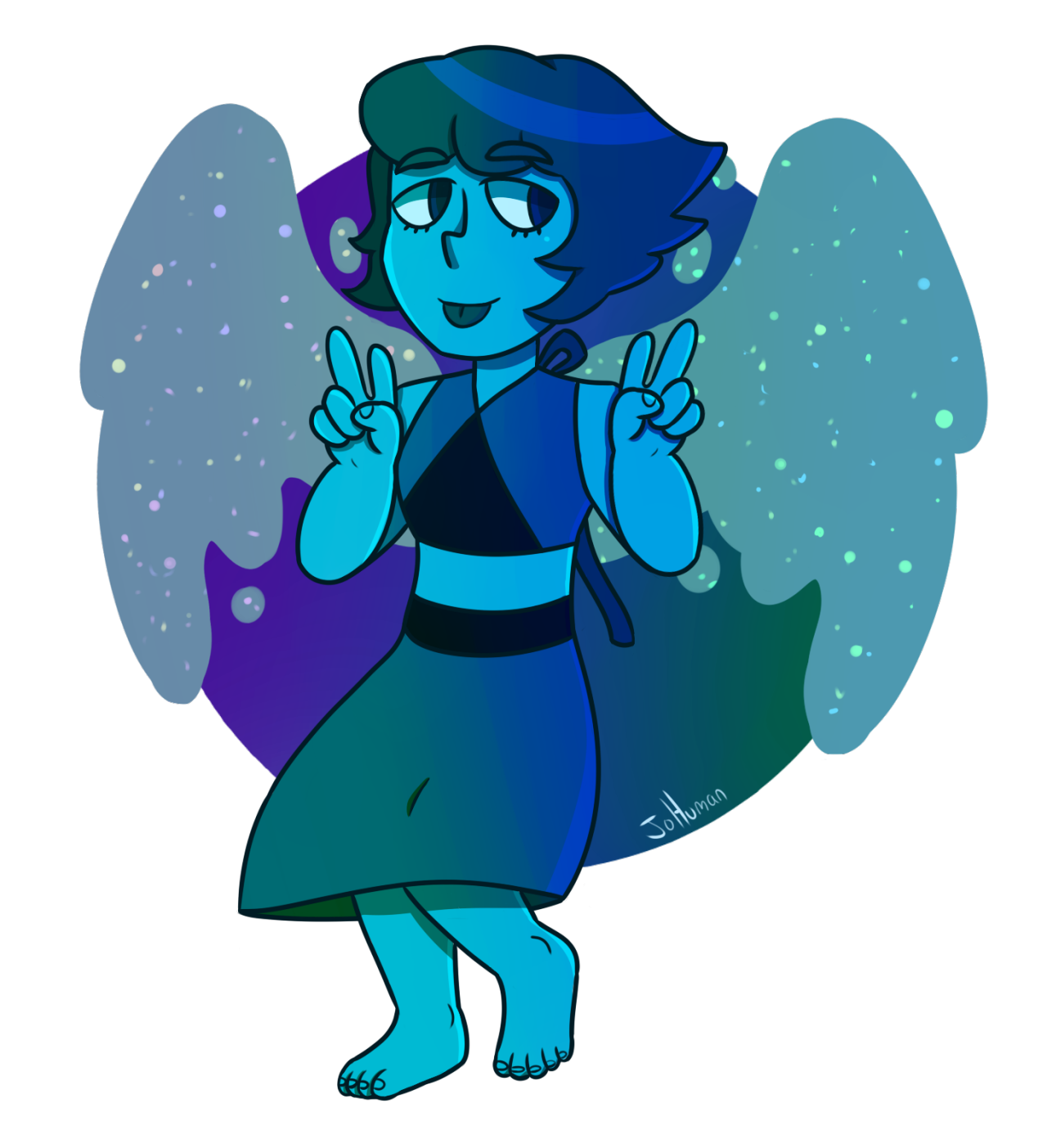 A lovely lapis (I didn't know which one looked better so I'm posting both)