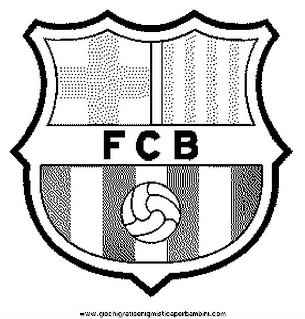 Scudetto Barcellona Da Colorare Pastoorvanarskijkduin