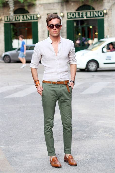 mantomeasure   wear  green chinos