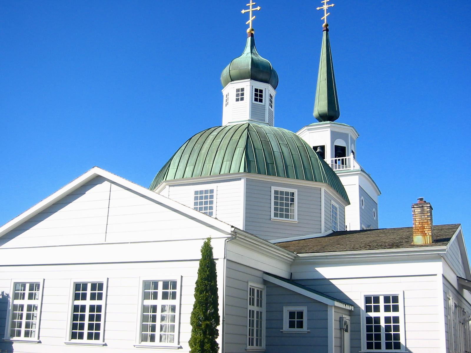 Saint Michael's Russian Orthodox Cathedral in Sitka, Alaska (Wikipedia Creative Commons)
