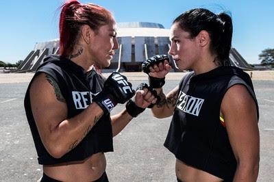 Cris Cyborg Lina Lansberg UFC Brasília (Foto: Bruno Miani - Inovafoto)