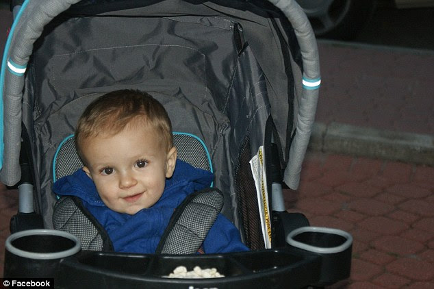 Baby: Mason, pictured, died four days after the incident, which took place in 2012