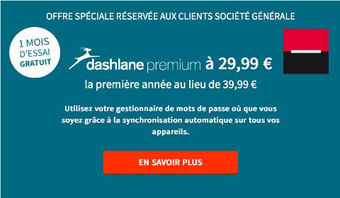 Offre Dashlane de Société Générale
