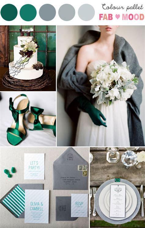 Grey & Emerald Wedding Colour Palette 1   Fab Mood
