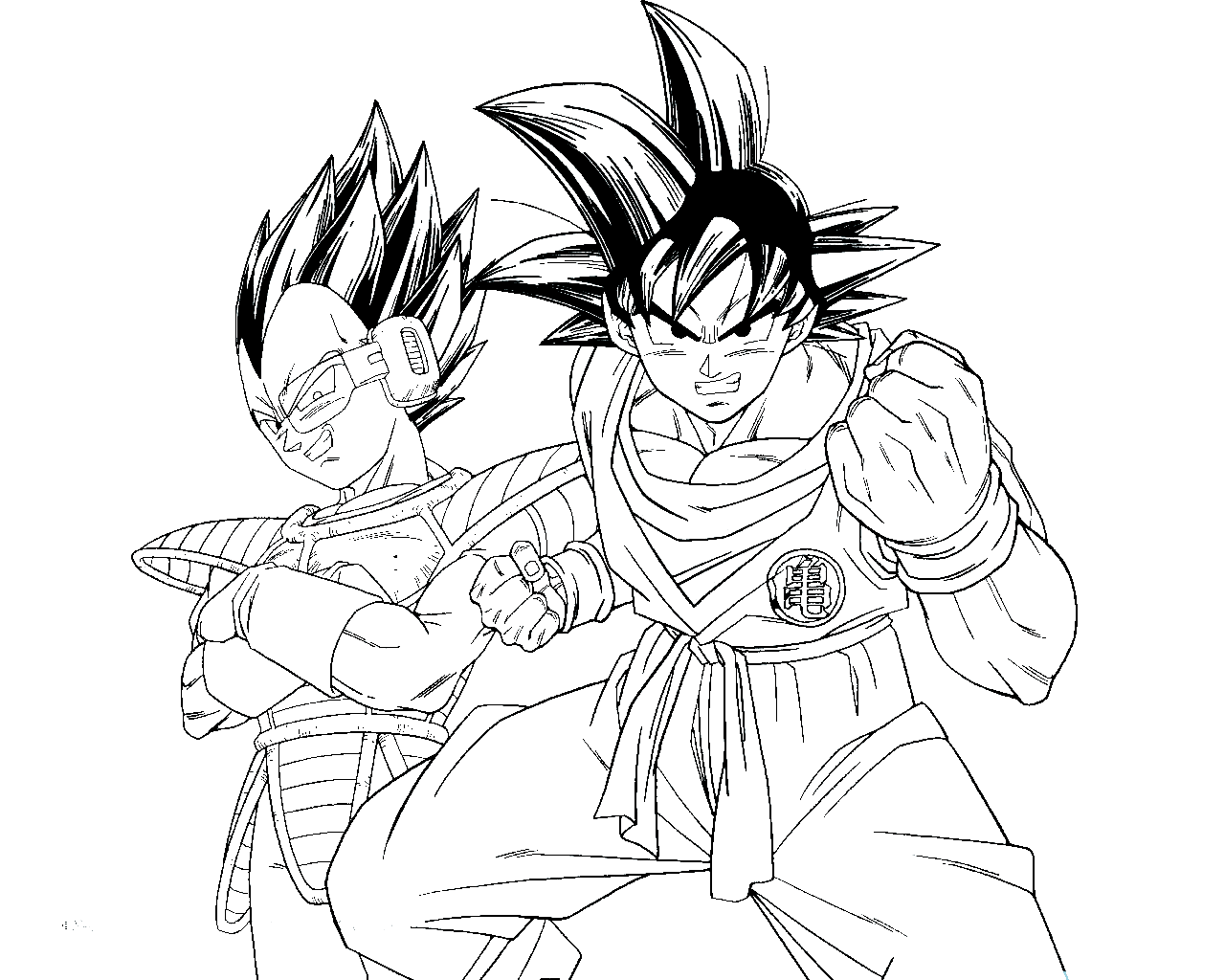 Coloring Page Vegeta Dragon Ball Gt - Coloring Home