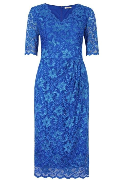 marks  spencer twiggy royal blue floral   lace