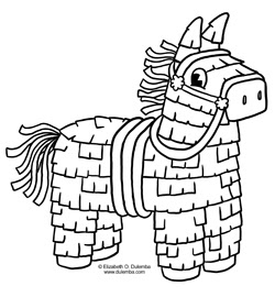 dulemba: Coloring Page Tuesday - Cinco de Mayo Piñata!