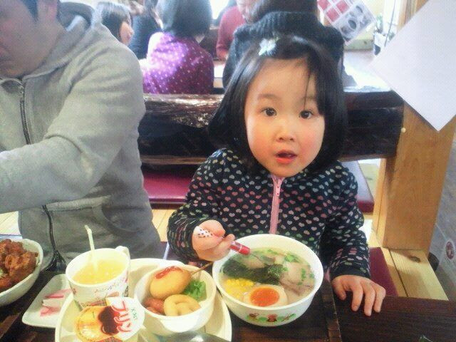1.18 Today, Ayaka 's favoried noodles. She tried to eat all but it was too much for her.