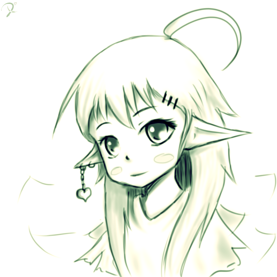 elf_girl_sketch_by_aoitamashi d5tokdj