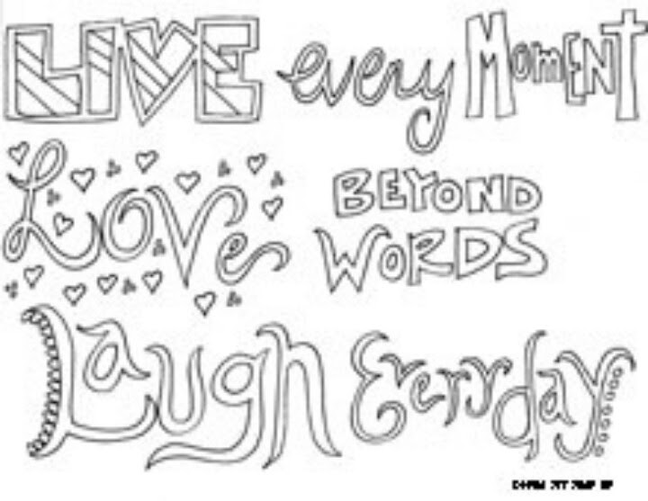 Love Lyrics Quotes: Love Quotes Coloring Pages