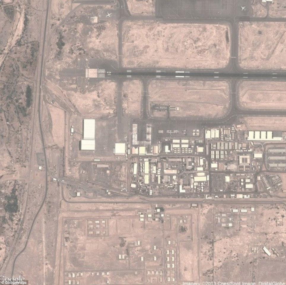 """Djibouti: Em 2012, a Economist descreveu esta base em Djibuti como """"a base mais importante para as operações com drones fora da zona de guerra do Afeganistão."""" Recentemente, foi forçado a mudar sua frota de drones após preocupações que poderiam colidir em aviões"""