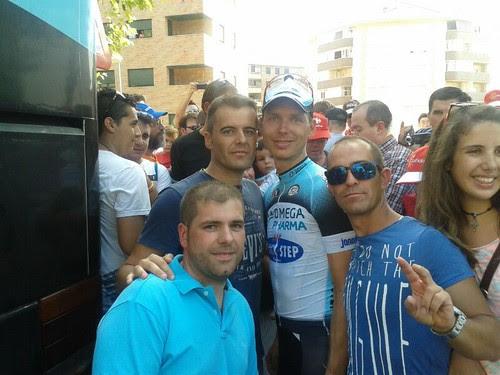 Con Tony Martin del Omega Pharma-QuickStep