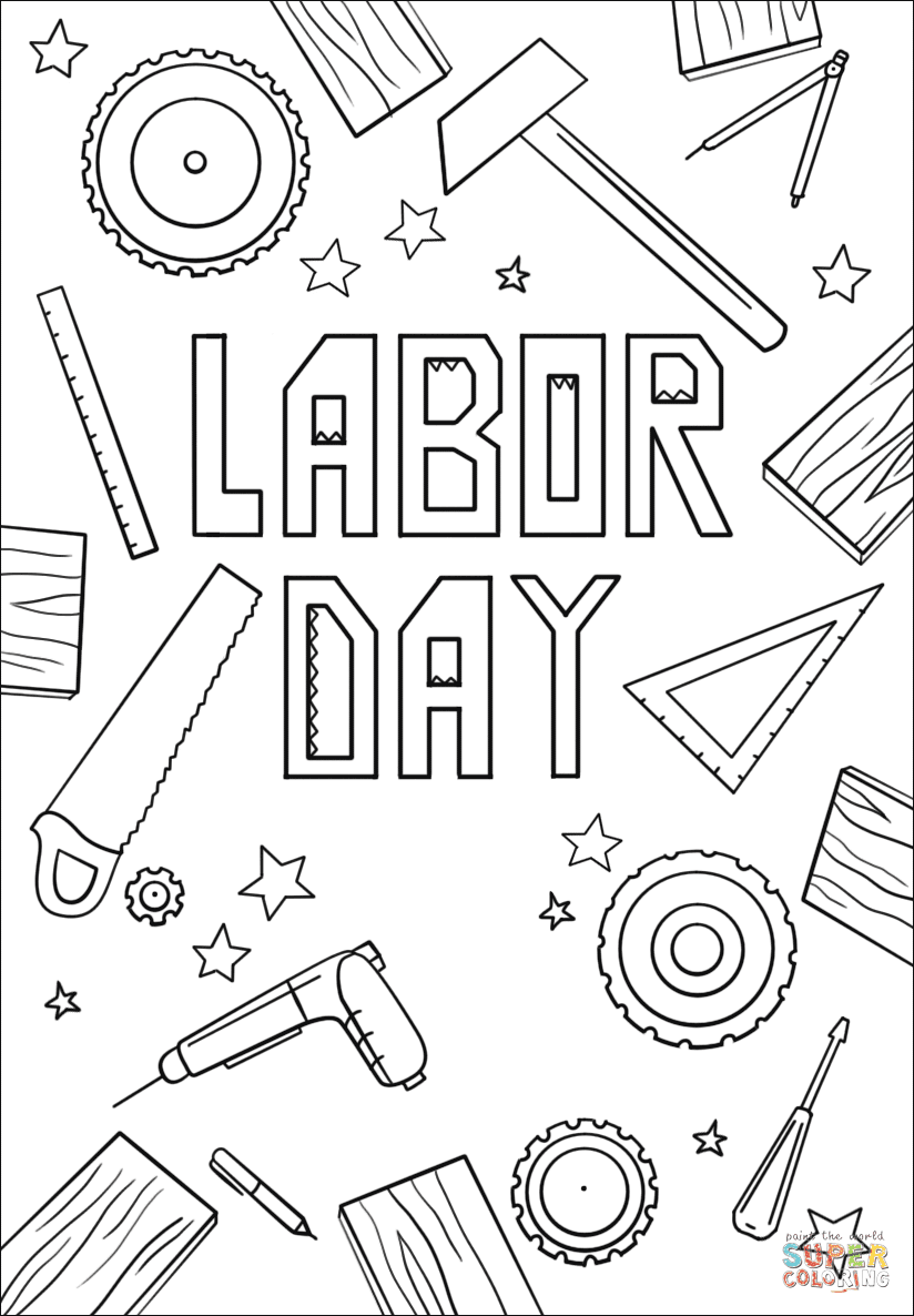Labor Day coloring page | Free Printable Coloring Pages