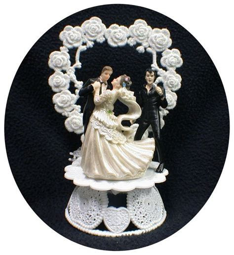 SEXY ELVIS LasVegas Romantic Wedding Cake Topper bride