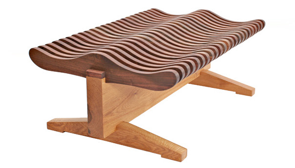 Lote Wood Five Board Bench Design Details