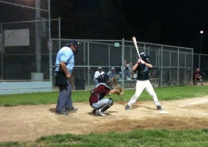 Jack at bat against the Woodland Thunder