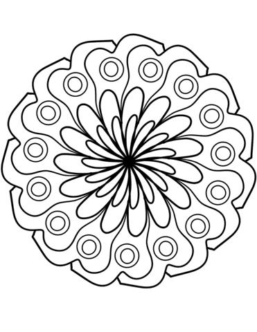 Coloriage Mandala Fleur Simple Coloriages à Imprimer Gratuits