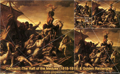 Theodore Gericault: The Raft of the Medusa and Golden Rectangles