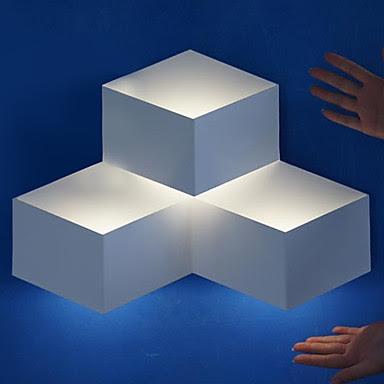 3W Modern Decor LED Wall Light Metal Cubic Shade Geometric Design ...
