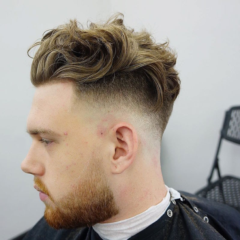 criztofferson_bald fade undercut wild longer hair