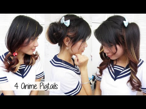 Anime Girl Hairstyle Tutorial Hairstyle - Anime girl hairstyle dress_flo