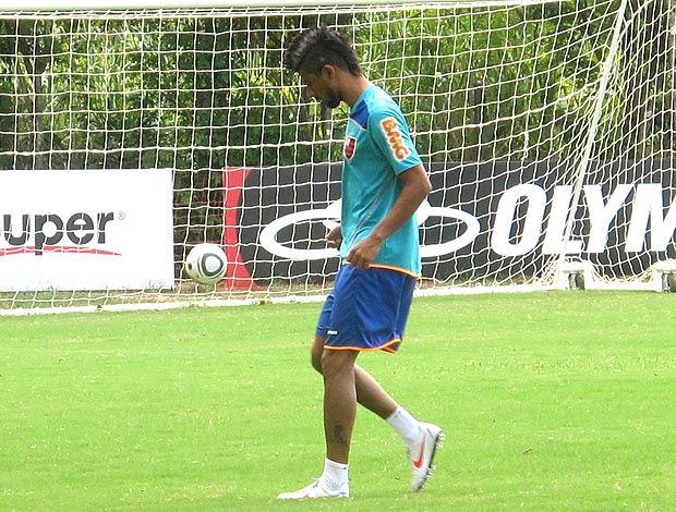Léo Moura no treino do Flamengo (Foto: Richard Souza / GLOBOESPORTE.COM)