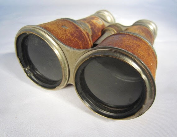 Vintage Binoculars French Chevalier Day & Night WWI Field Glasses Antique