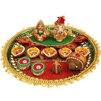 Tips and Ideas about Diwali Pooja Thali Decoration. So