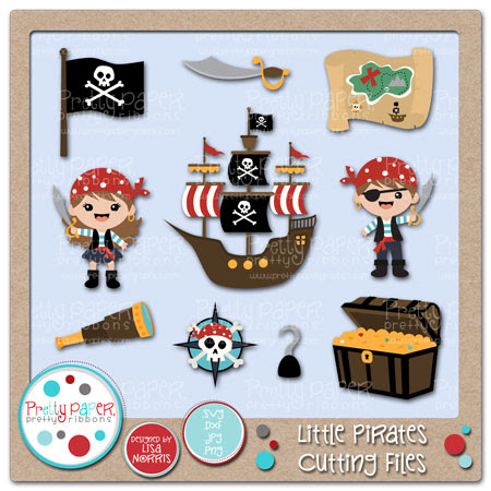 Little Pirates Cutting Files