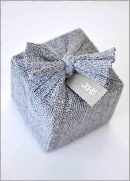 upcycled sweater packaging …