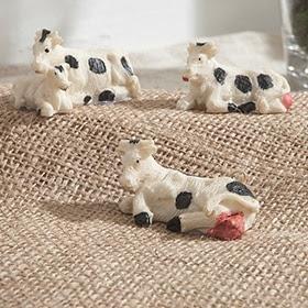 Set de 3 figuras de vacas de 3cm