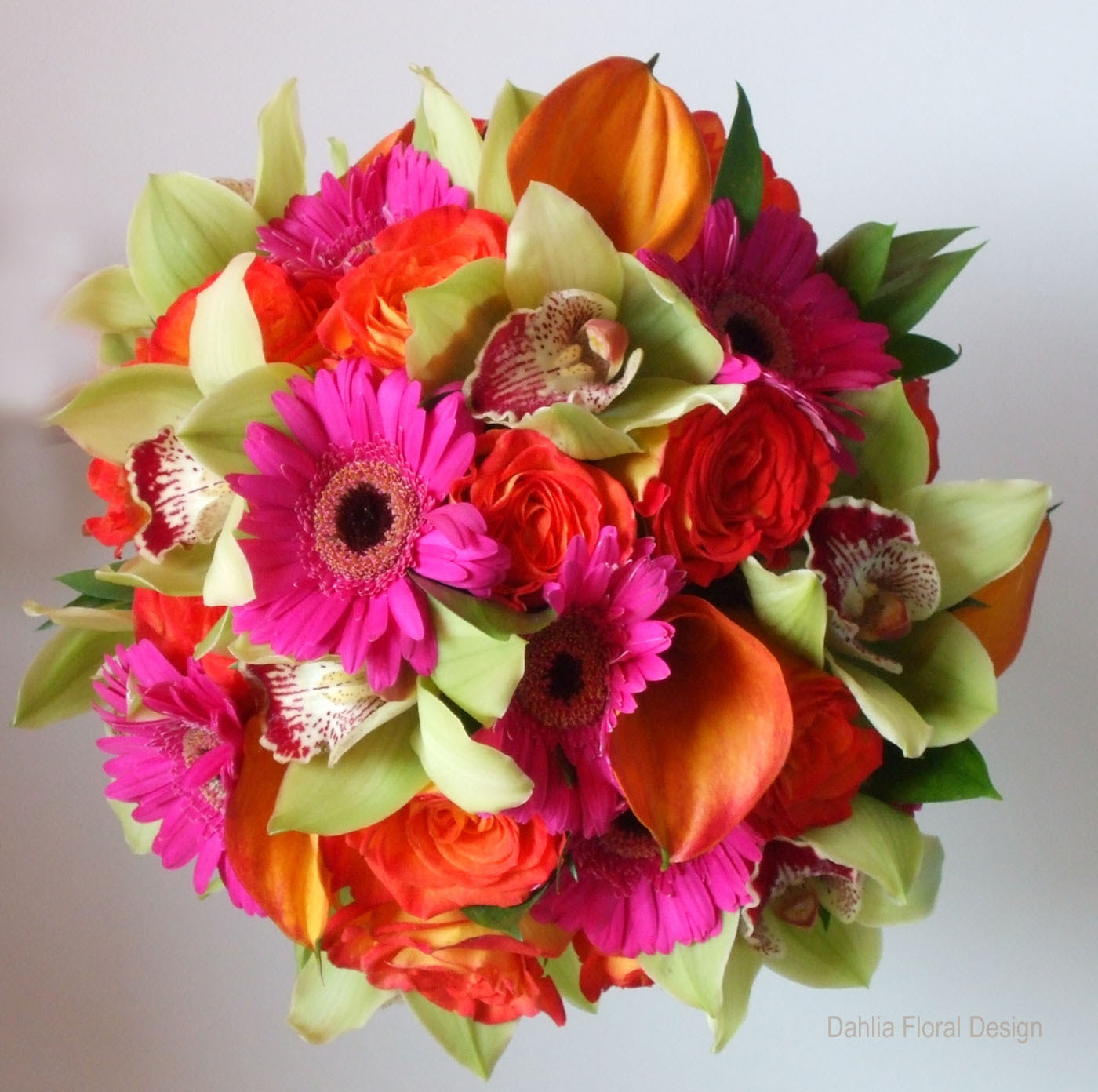 Fusion Mixed Colored Bouquets Dahlia Floral Design