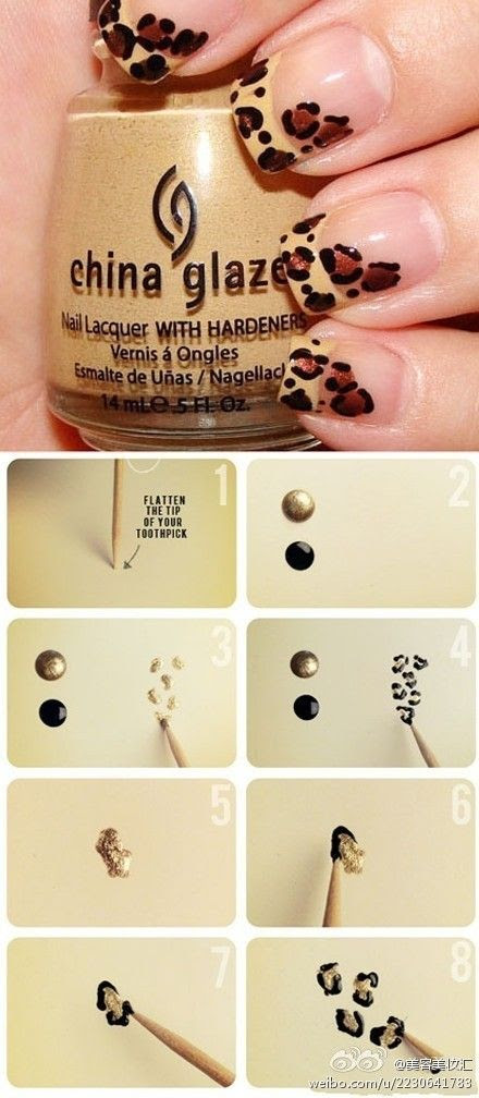 Cheetah nails how-to
