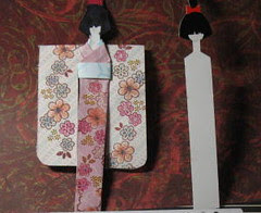 Geisha bookmark & template