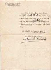 Revers: Salconduit sobre paper oficial de l'Aj. d'Amposta