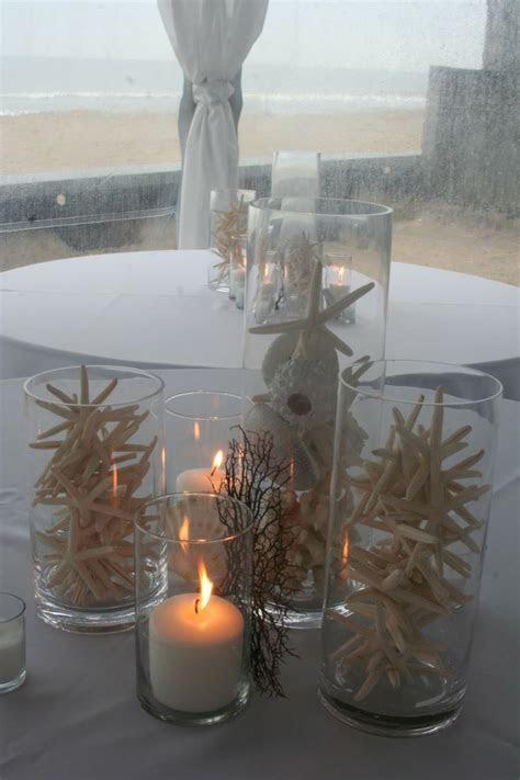 Coral Beach Wedding Centerpieces   Starfish Centerpiece