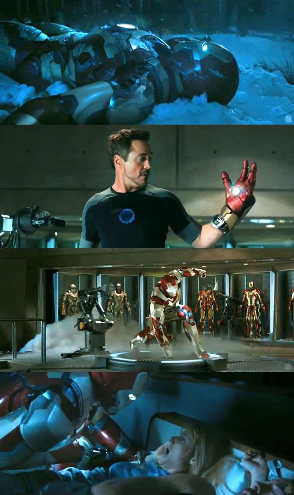 Screenshots from the new teaser trailer for IRON MAN 3.