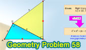 Problema de Geometría 58: Triangulo rectángulo, Congruencia, Pitágoras.