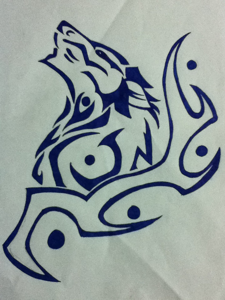 Tribal Wolf Drawing At Getdrawingscom Free For Personal Use