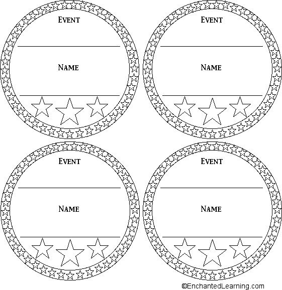 Printable Medal Template | WORK | Pinterest | Templates