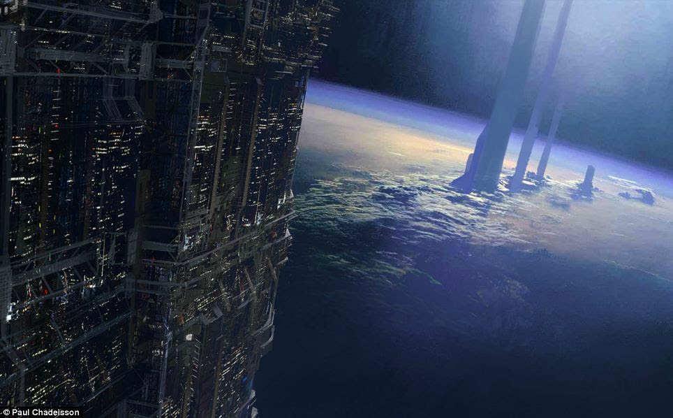 More like Star Wars: This image closely resembles many cities of the future seen in sci-fi films, where incredibly tall buildings peek above the clouds and the world below is almost invisible