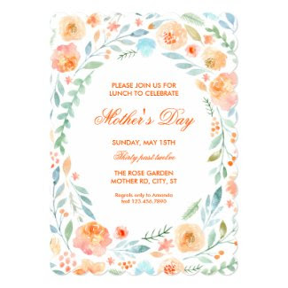 Watercolor Floral Mother's Day Invitation