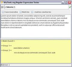 WizTools.org RegularExpression Tester
