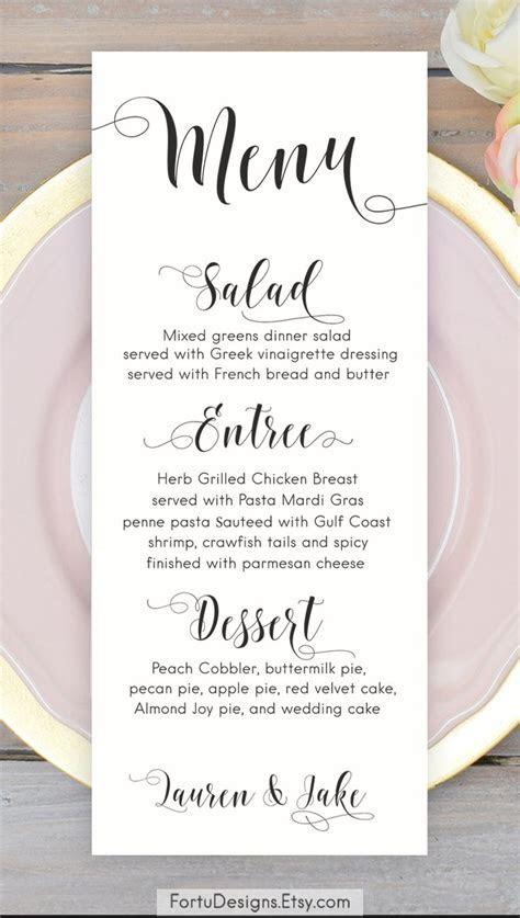 De 25  bedste idéer inden for Wedding menu cards på