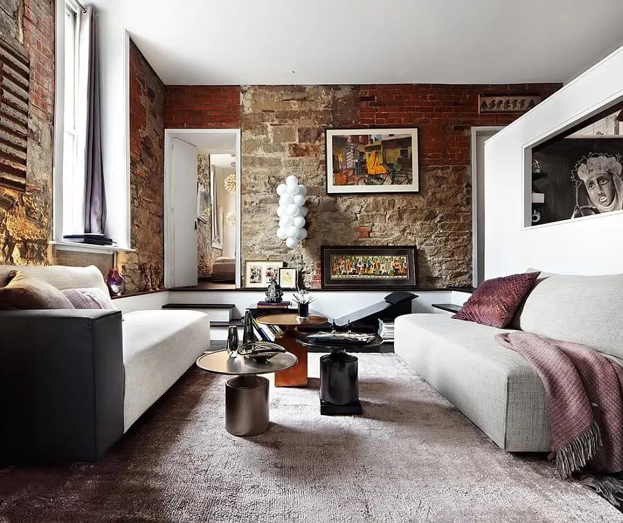 10 Brick Walls Living Room Interior Design Ideas