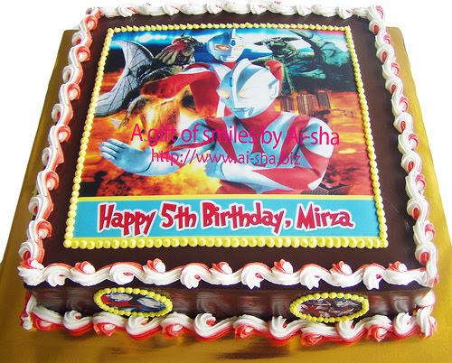 Birthday Cake Edible Image Ultrman Ai-sha Puchong Jaya